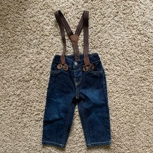 Carter's Jeans with Brown Suspenders